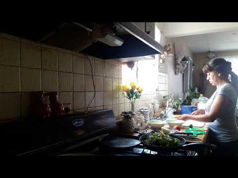 Receta de  arroz  con  sabor a  cilantro   y  pollo  a  la  verduras