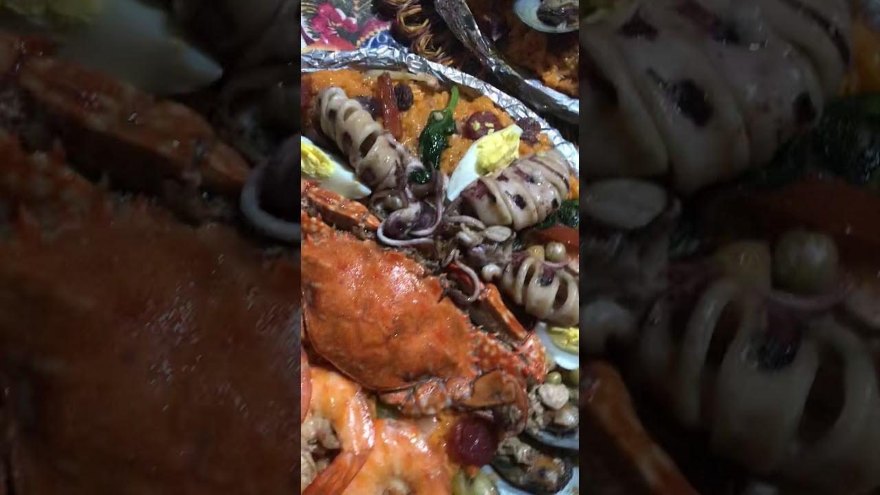 Seafoods Paella in 14 inches Bilao.
