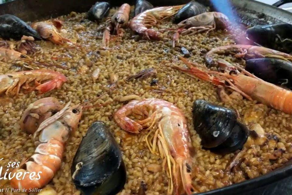 Ses Oliveres Puerto de Soller Restaurante - Paella de marisco