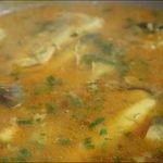 Sopa de pescado o bagre