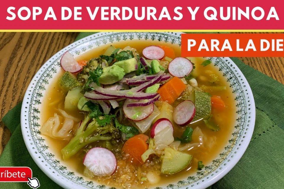 Sopa de verduras con Quinoa (nutritiva y económica) SIN Carne |Cocina de Addy