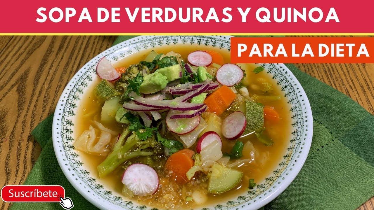 Sopa de verduras con Quinoa (nutritiva y económica) SIN Carne  Cocina de Addy