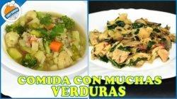 Sopa y guisado con muchas verduras, saludable, económico para diabeticos y hasta keto