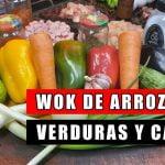 Wok de arroz con verduras y carne 🍴 2020 | Arroz salteado con verduras y salsa de soja