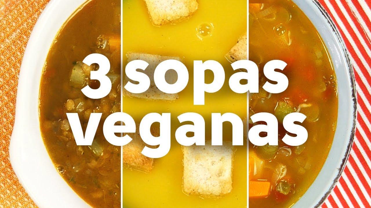 3 sopas veganas   BUENAZO!