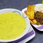 Almuerzo con sopa y seco muy fácil y delicioso ideal para principiantes - no mas domicilios