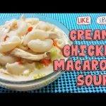 CREAMY CHICKEN MACARONI SOPAS | MACARONI SOPAS