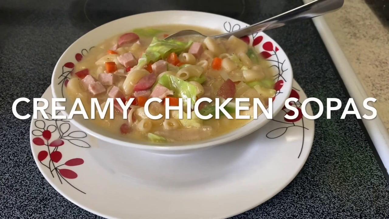 Cómo cocinar Sopas cremosas de pollo.  Receta fácil buena para el clima frío