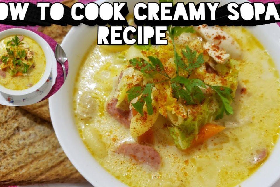 Cómo cocinar la receta cremosa de sopas [Cooking Sarah]
