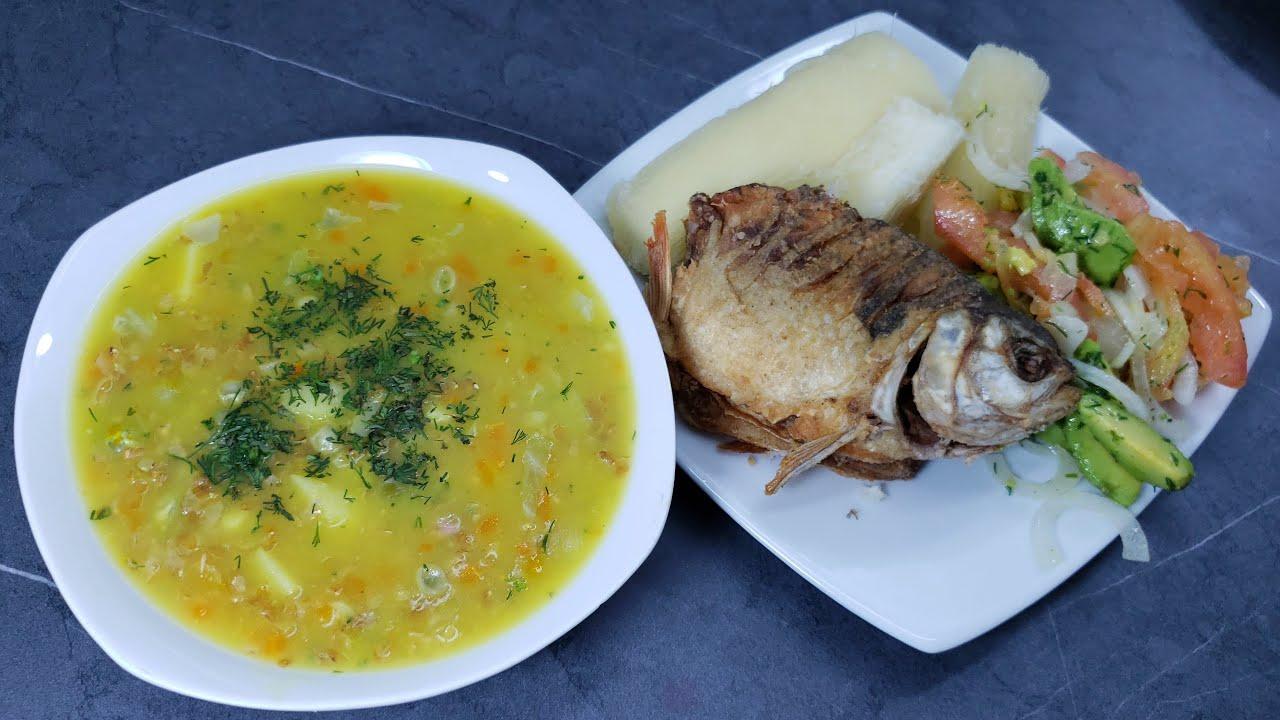 DELICIOSO almuerzo con sopa de cuchuco de trigo - como hacer sopas colombianas
