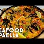 Paella de marisco 🥘🥘 |  Auténtica Paella Española de Mariscos |  Receta fácil de paella |  Receta especial del chef