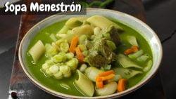Prepara Sopa Menestrón Peruano en un Toque | Receta Facil