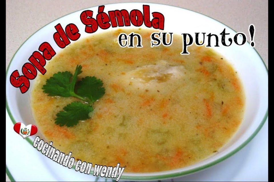 RECETA: SOPA DE SEMOLA (en su punto y deliciosa!)