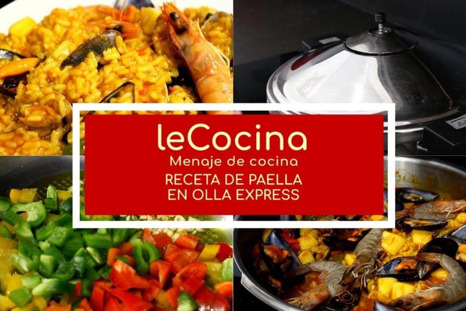 Receta de PAELLA - Cómo hacer una paella en OLLA EXPRESS ¡En solo 6 MINUTOS!