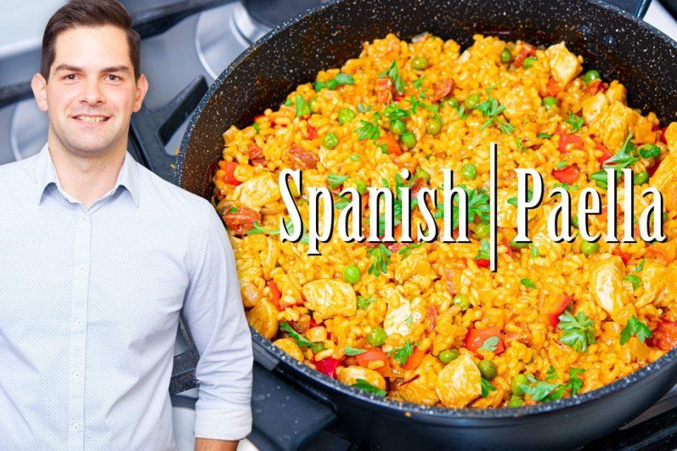 Receta de paella con mariscos + pollo y gambas: preparación fácil y #Ad SUPER sabrosa