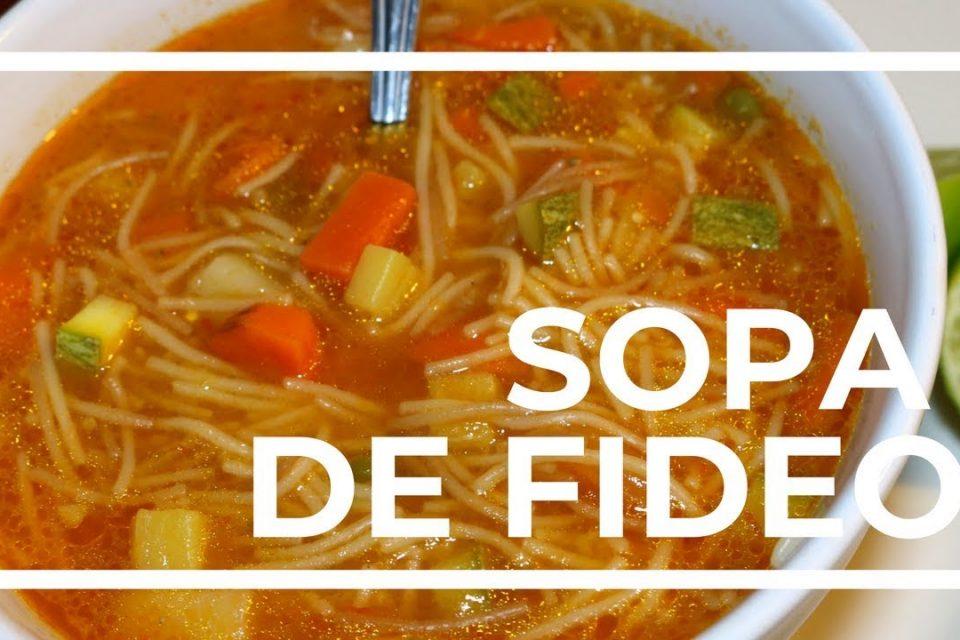 SOPA DE FIDEO CON VERDURAS / RECETA FÁCIL / MALIBU