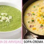 SOPAS: CHOCLO Y ARVEJA SALUDABLES CASERAS PASO A PASO