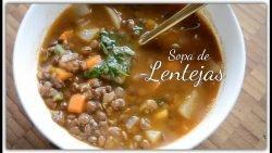 Sopa De Lentejas ∆ Cocina Peruana