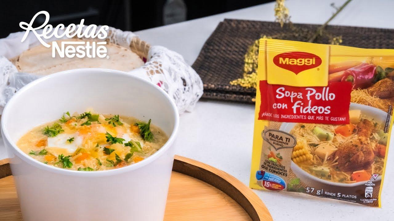 Sopa Maggi con Huevo y Papa MAGGI  Recetas Nestlé CAM
