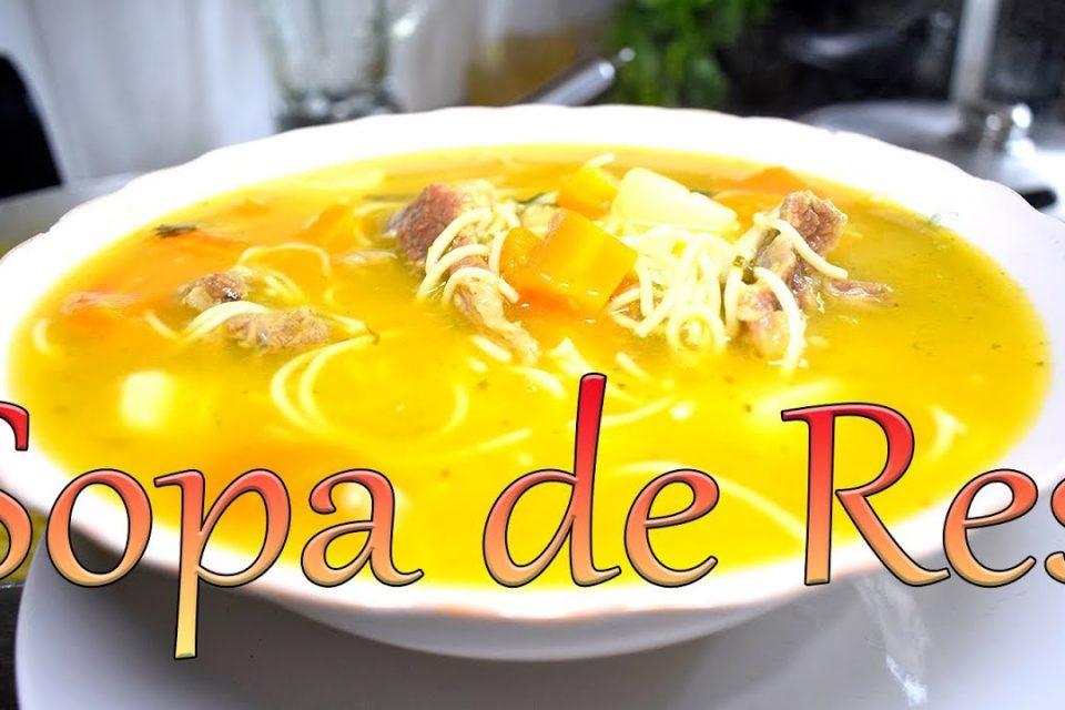 Sopa de Carne de Res - Cocinando con Yolanda