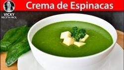 Sopa o Crema de Espinacas | #VickyRecetaFacil