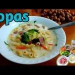 Sopas    Sopa de pollo con macarrones    Diana MirandaTV