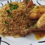 pollo con arroz, y champis con tomate👇👇👇😋😋, pollo con arroz y champiñones con tomate.  Receta 👇👇