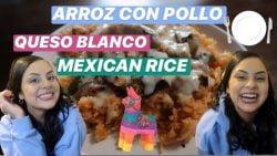 ARROZ MEXICANO, ARROZ CON POLLO Y QUESO BLANCO CASERO CENA PARA IMPRESIONAR