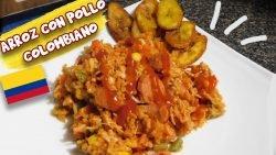 Arroz con pollo, receta colombiana, con El Sazón de Toñita.