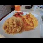 Arroz con pollo with pico de gallo // AND Homemade tortilla chips !! (Rice and chicken)