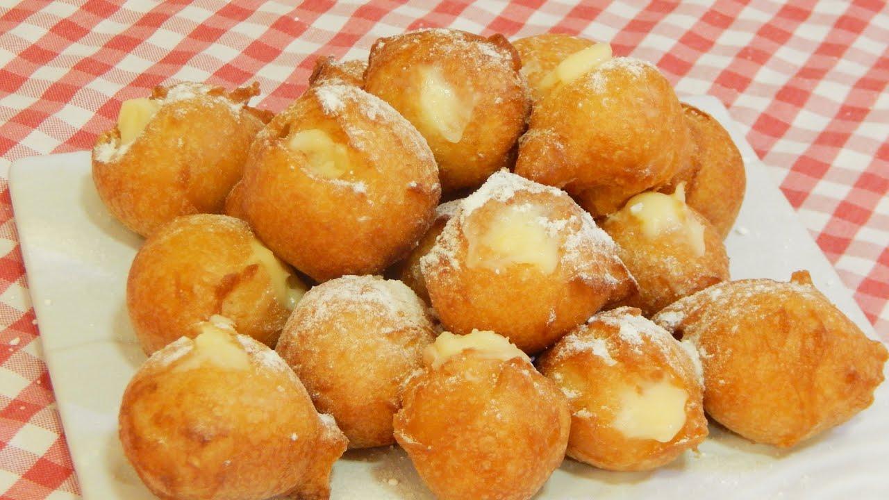 Buñuelos caseros rellenos de crema Receta tradicional de todos los Santos