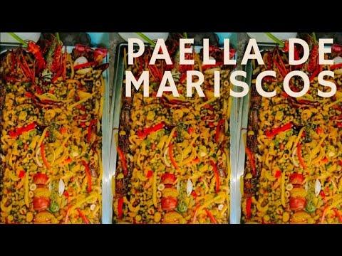 COMO HACER PAELLA  DE MARISCOS||ESTILO RIZITOS