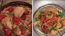 Cálido y frío: Pollo con arroz y salpicón de ave - Morfi