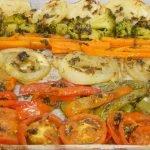 Cómo hacer Verduras asadas con salsa de ajo una guarnición deliciosa