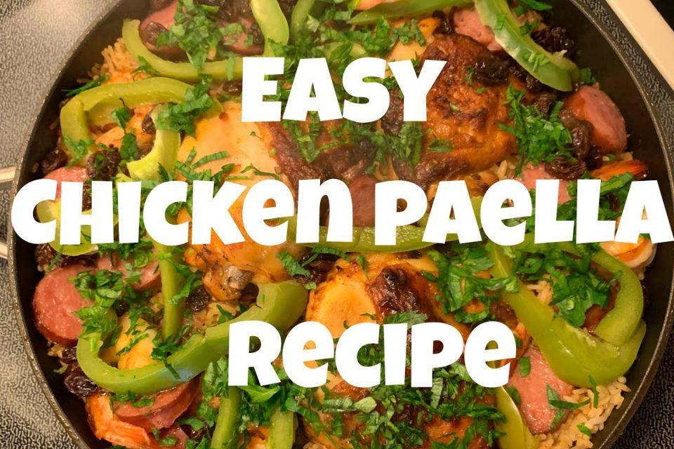 Cómo cocinar la paella de pollo »Wiki Ùtil  Receta fácil de paella de pollo