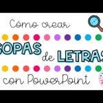 Cómo crear SOPAS DE LETRAS con PowerPoint 💗 Colour me Confetti