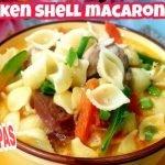 Cómo hacer sopa de macarrones con cáscara de pollo | Sopa de pollo |  Kanamit Gid