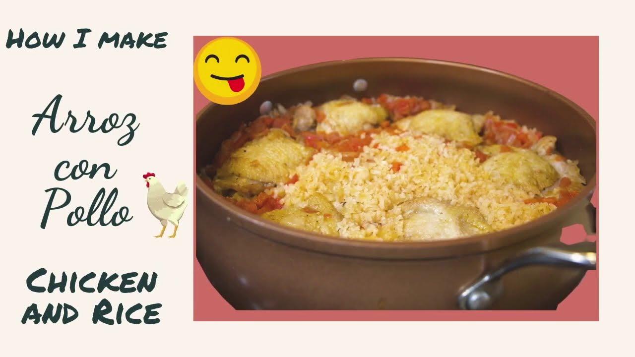 Cómo hago Arroz con Pollo al estilo mexicano Receta de pollo con arroz