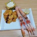 Paella de cigalas y marisco.La cocina de Nono rica rica