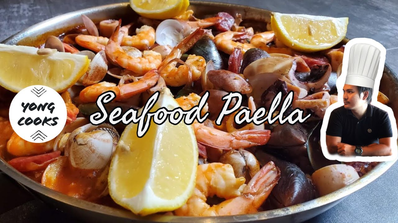 Receta fácil de paella de mariscos |  Cocineros Yong
