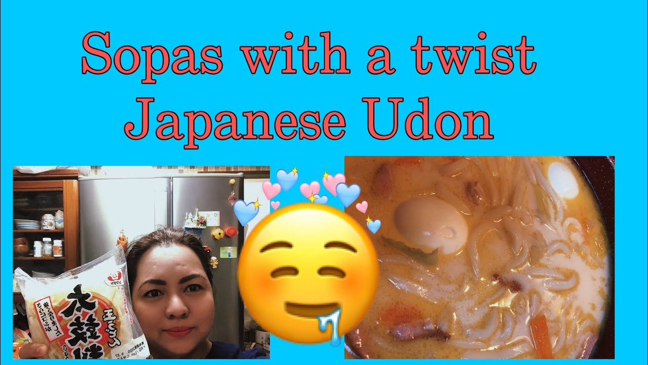 Sopas with a twist Japanese Udon