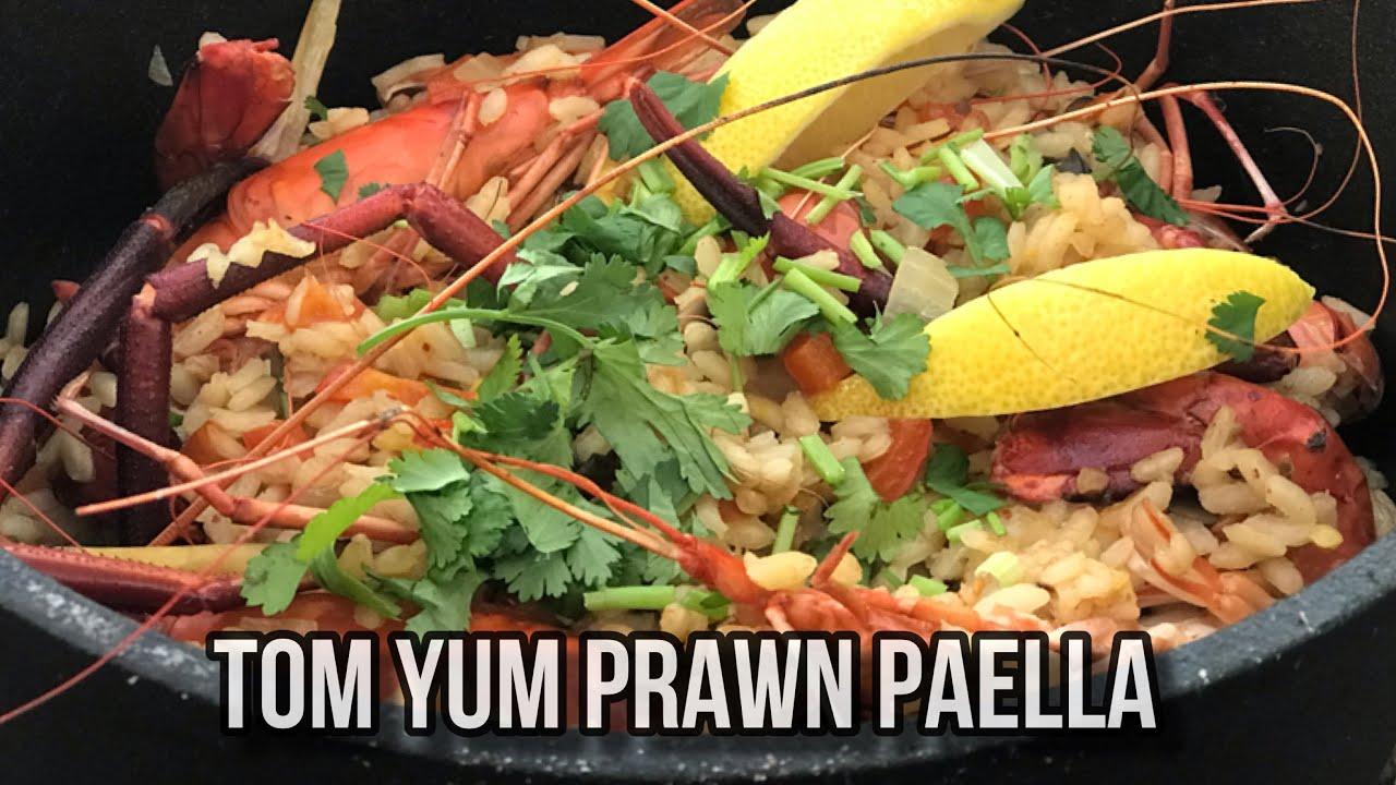 Tom Yum Prawn Paella /ข้าวอบ ต้มยำกุ้ง /การทำอาหาร แบบ ผสมผสาน ระหว่างอาหารไทย กับ อาหารสเปน