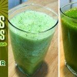 2 jugos verdes para quemar grasa y bajar de peso - Cocina Vegan Fácil