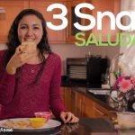 3 SNACKS SALUDABLES! - Recetas para perder/mantener peso ♥