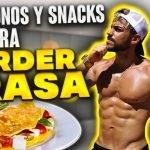 DESAYUNOS Y SNACKS SALUDABLES | RECETAS para PERDER PESO RÁPIDO