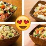 4 Recetas de Ensaladas Saludables Para Bajar de Peso (Nutritivas & Fáciles)