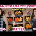 MENÚ SEMANAL PARA DIETA KETO/PIERDE PESO RAPIDO DIETA 2020/MEAL PREP/PLAN DE COMIDA LOW CARB PLAN #1