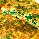 Tortilla de Espinacas Nutritiva y Baja en Calorías-Perfecta para Bajar de Peso