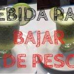 Bebida para BAJAR DE PESO 🍹| Recetas Saludables |