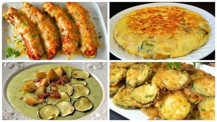 4 recetas con calabacín (zapallo italiano o zucchini)